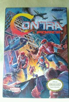 Contra Force  (Nintendo, 1992) Complete Rare Tested NES Game