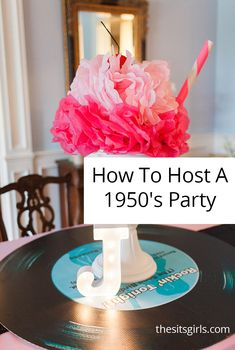 1950s Retro Sock Hop Party Ideas | The SITS Girls Retro Birthday Parties, 50s Theme Parties, 50th Party, 70th Birthday, Birthday Party Themes, 1950s Theme Party, Girl Parties, Dinner Parties, 1950s Party Decorations