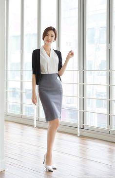 Romantic & Trendy Looks, Styleonme Korean Fashion Work, Korean Fashion Winter, Work Fashion, Asian Fashion, Fashion Models, Fashion Outfits, Womens Fashion, Asian Woman, Asian Girl
