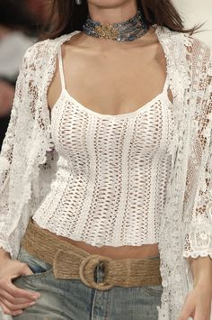Ralph Lauren, New York, Spring 2006. Hairpin Crochet Top