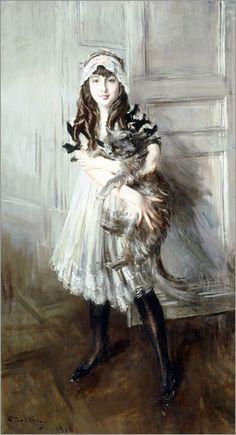 Giovanni Boldini - Josefina Errazuriz con un gatto