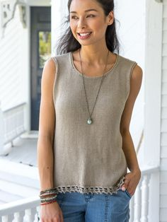 8a3699b158003 Malaga Tank. Sweater Knitting PatternsFree ...
