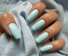#babyblue #nails #manicure #pastel