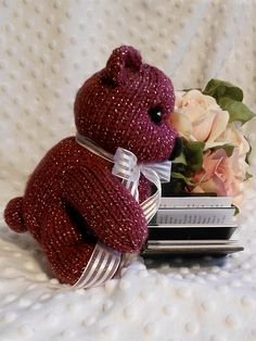 HandKnit Bears by B & B Kniddlings. We hope you will come see us at:  http://www.etsy.com/shop/Kniddlings A portion of all proceeds goes to Alzheimers Research
