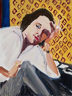 Chantal Joffe, Anne in her Study, 2015. Oil on board. 40.8 x 30.5cm. Courtesy Victoria Miro