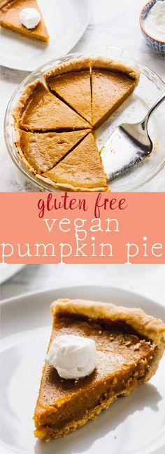 This Vegan Pumpkin Pie is made with coconut milk, homemade pumpkin puree and all natural healthy ingredients! It's refined-sugar free, gluten free and bakes JUST like classic pumpkin pie! via http://jessicainthekitchen.com