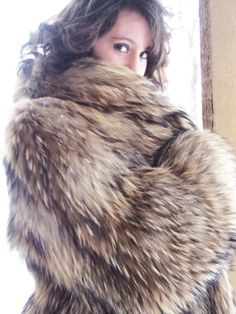 Racoon Fur Coat... and a peek-a-boo.