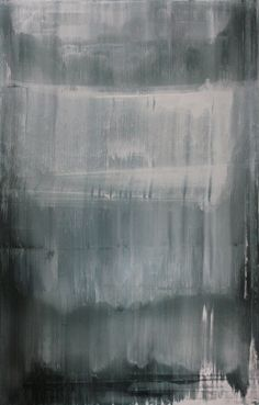 "Koen Lybaert; Oil, 2013, Painting ""abstract N° 520 [titanium white, manganese black, furnace black and ivory black]"""