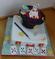 Magician Cake for 5-year olds Harry and Harry By Fifi-s_Cakes
