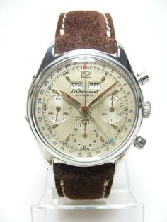 """1950's - Twin sister of the Rolex Datocompax """"Killy"""" Vintage Chronograph triple date."""