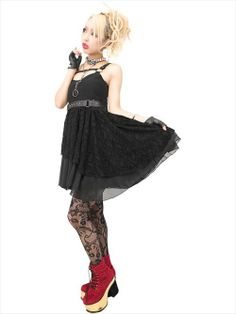 CDJapan : BELTED TULLE One Piece (F) SB03040-113 SEX POT ReVeNGE APPAREL. See more at: http://www.cdjapan.co.jp/apparel/ #punk #japanesefashion