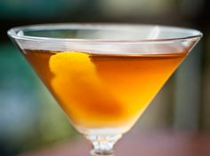 The Emerald - Irish Whiskey, Sweet Vermouth, Orange Bitters, Orange or Lemon Peel.