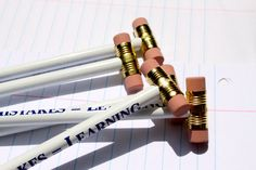 Pencils with Double Erasers via Etsy
