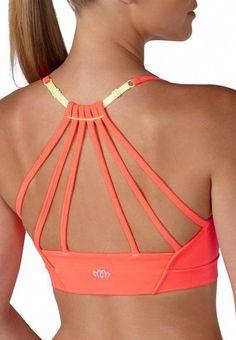 add5e565fff11 solid lattice back sport bra - Fitness Apparel