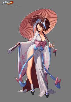 Shiranui Mai - The King of Fighters - Image - Zerochan Anime Image Board Female Character Design, Character Design Inspiration, Character Art, Anime Fantasy, Fantasy Girl, Mai King Of Fighters, Fantasy Characters, Anime Characters, Shiranui Mai