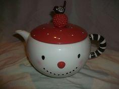 New Dept 56 Christmas Snowman Bird Teapot Coffee Pot Holiday Decor Winter | eBay
