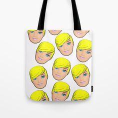 Tote Bag by plasticpam Art Bag, Beach Look, Paper Bags, Poplin Fabric, Beach Towel, Pop Art, Short Hair Styles, Stress, Reusable Tote Bags