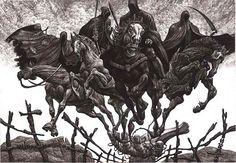 Julian Jordanov, Four horsemen of the Apocalypse (ex libris).