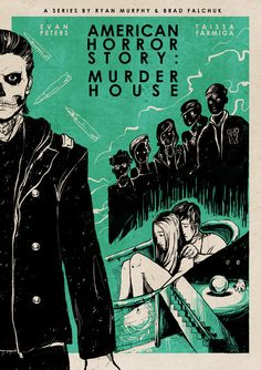 American Horror Story: Murder House by Roberto Sánchez Prints // Behance // Twitter
