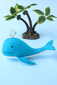 Pin whale pincushion PDF available on craftsy