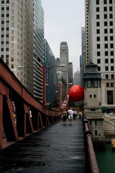 Interactive Giant Red Ball - My Modern Metropolis
