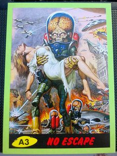Mars Attacks cards 1962
