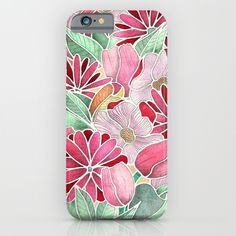 Buy Blossoming - a hand drawn floral pattern iPhone & iPod Case by Perrin Le Feuvre. Worldwide shipping available at Society6.com. Just one of millions of high quality products available.