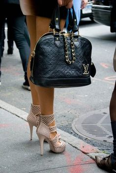 Vuitton purse and shoes