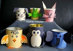 Tin Can/ Youghurt Cup Crafts