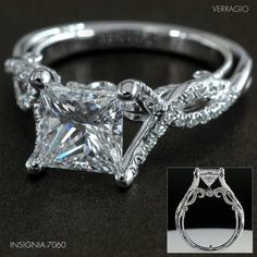 2 carat Princess Cut Ring. Look @ that carriage Wow!