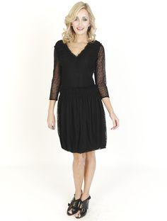 Black Dresses - Lace Bubblehem Shift Black Dress - http://www.blackdresses.co.uk/