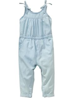 Chambray Rompers for Baby Product Image
