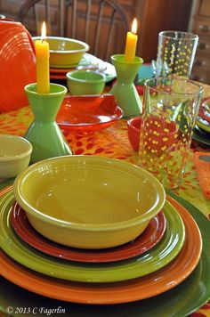 Scarlet, White, and Flamingo (retired) Fiesta® Dinnerware accented ...