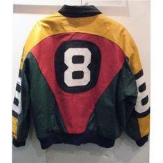 8 ball leather jacket Spike Leeの 40 ACRES & A MULEやレゲエファッションを生み出した80年代オールドスクールファッションを代表する8ボールレザージャケット。