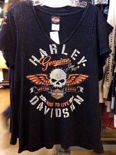 Genuine Harley-Davidson v-neck tee http://orlandoharley.com/ - #OrlandHarley #Harley #Orlando Harley-Davidson®