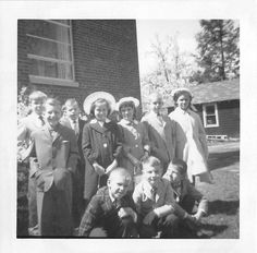 Photograph Snapshot Vintage Black and White Boys Girls Smile Hat Class 1950'S | eBay