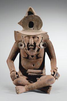 Statue de Huehueteotl, dieu du feuCulture VeracruzCôte du Golfe, MexiqueClassique, 600-900 ap. J.-C.