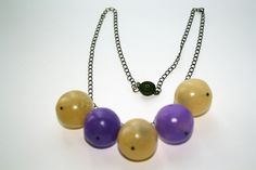 Translucient Hollow Bead Necklace by Bits of Clay, via Flickr