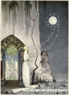 Kay Nielsen, illustration, 1914, East of the Sun, West of the Moon
