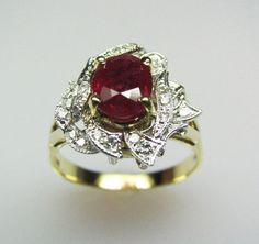 Fire & Ice Ruby Ring by FernandoJewelry on Etsy