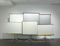 exasperated-viewer-on-air:  Heimo Zobernig - Untitled, 2005 six roller overhead projector screens dim unkn