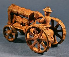 Antique & Vintage Arcade Farm Toy Hobby Cast Iron Plow Tractor http://www.busaccagallery.com/catalog.php?catid=112=5888=1