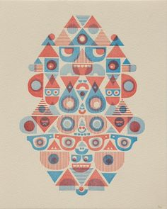 Amazing mid-century styled letterpress print of an artwork by Cody Hudson from Melbourne Etsy seller Wilkintie
