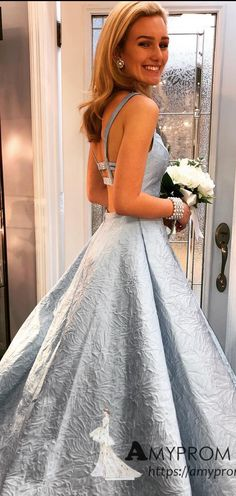 19017651d2a Chic A-line Straps Black Sky Blue Long Prom Dresses Beautiful Printing Prom  Dress Evening