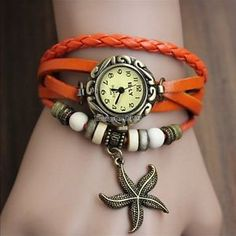 Retro Frauen-Weinlese Weave Wrap Quarz Leder Armbanduhr Armband 3 Typen ED | eBay