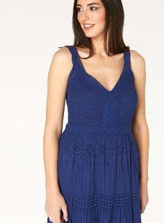 Womens *Roman Originals Royal Blue Maxi Dress- Blue