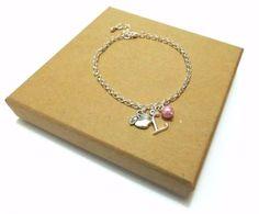 Teacher Gift Apple Charm Bracelet - Gift for Teacher, Apple Bracelet, Apple Jewellery, Thank You Teacher Gift, Apple Jewelry, Personalised Charm Bracelet, Apple Charms