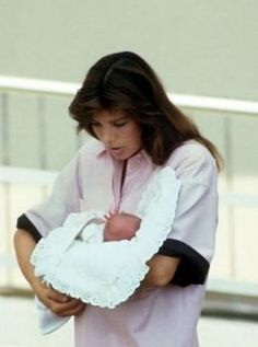 Charlotte Casiraghi - Wow! I thought this was Caroline. Sunday August 3, 1986 1900 hrs Monaco's Princess Grace's Hospital.