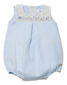 PILI CARRERA GORGEOUS BLUE PIQUE ROMPER REF:2125001/028
