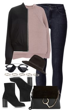 """""""Untitled #782"""" by itskarinaaaaa ❤ liked on Polyvore featuring T By Alexander Wang, Topshop, Chloé, Henson and River Island"""